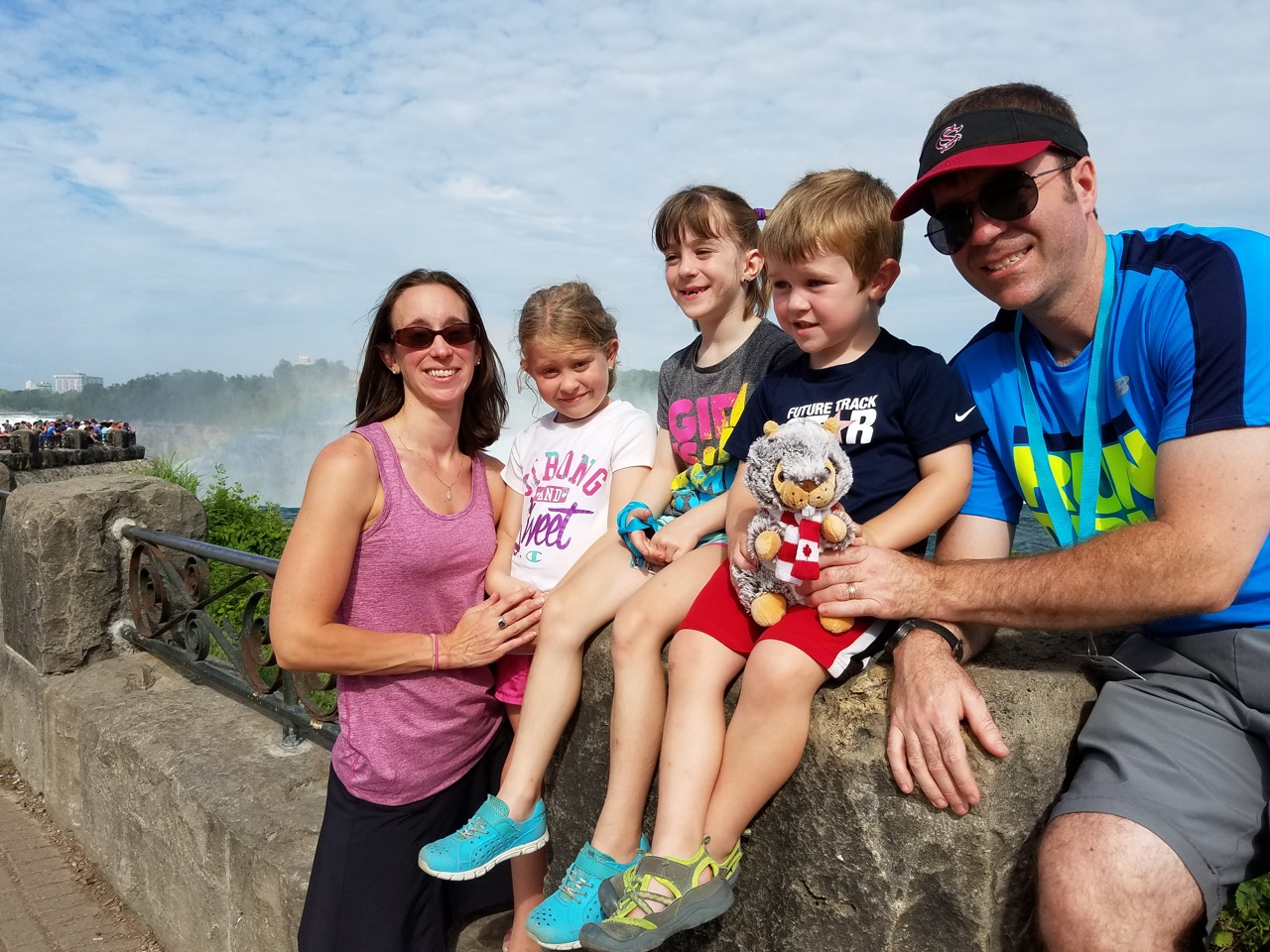 Karen Clark and family at Niagara Falls