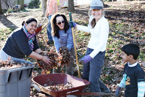 CFS community members engage in a service project